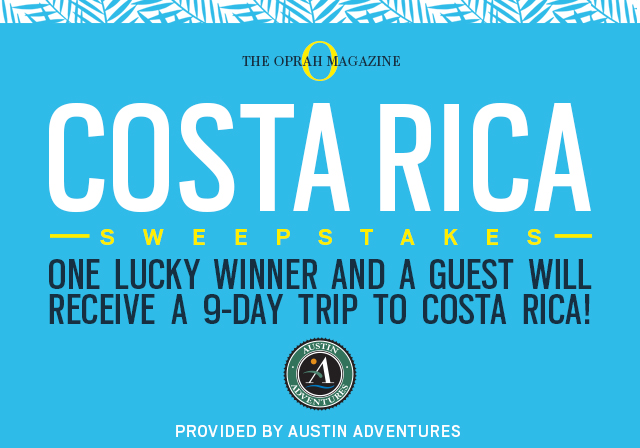 One Lucky Winner and a Guest Will Receieve A 9-Day Trip to Costa Rica!
