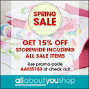 Get 15% off at the allaboutyoushop