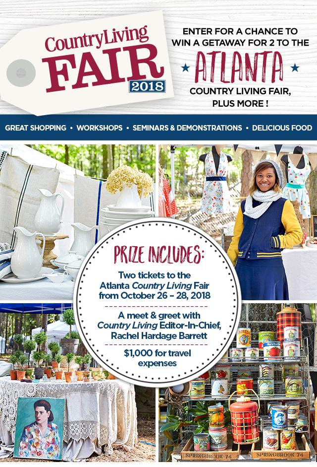 Country Living Atlanta Fair Sweepstakes