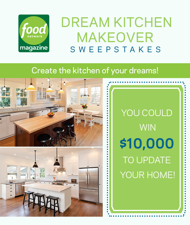 Kitchen Sweepstakes: Food Network $10KDreamBig Kitchen Makeover Sweepstakes