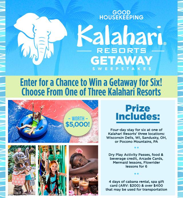 Kalahari Resorts Getaway Sweepstakes