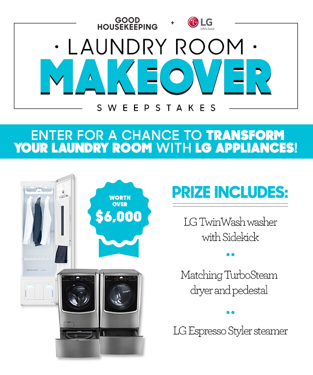 Good Housekeeping Laundry Room Makeover Sweepstakes