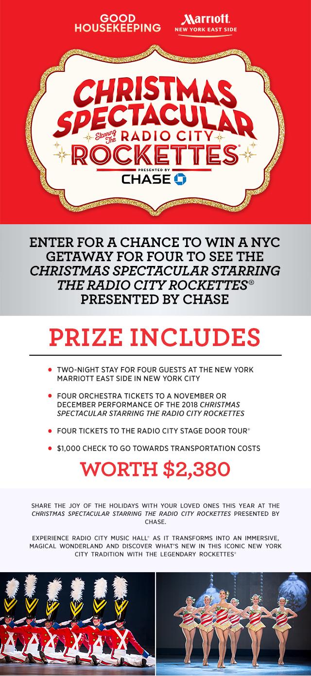 Radio city christmas spectacular sweepstakes
