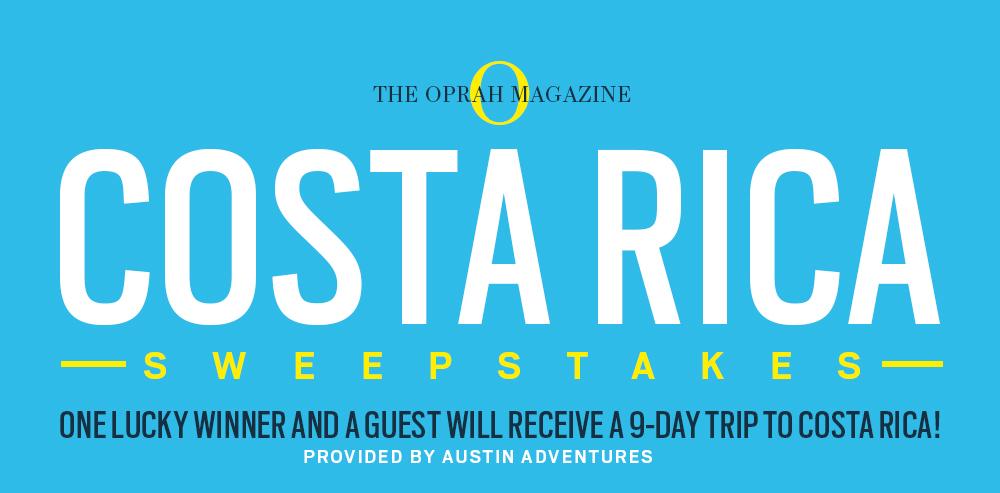 oprah magazine costa rica sweepstakes