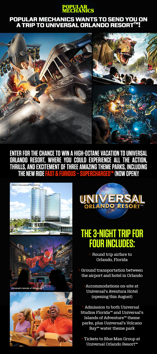 Popular Mechanics Sweepstakes >> You Could Win A Trip To Universal Orlando Resort From Popular Mechanics